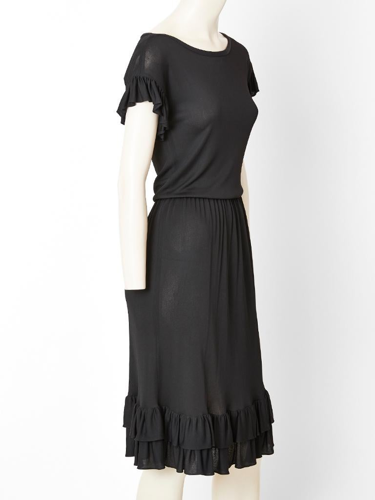 Black Yves Saint Laurent Rive Gauche Jersey Dress  For Sale