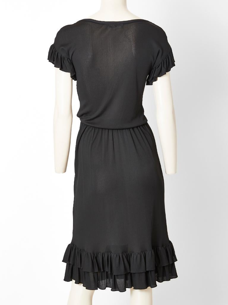 Yves Saint Laurent Rive Gauche Jersey Dress  In Good Condition For Sale In New York, NY