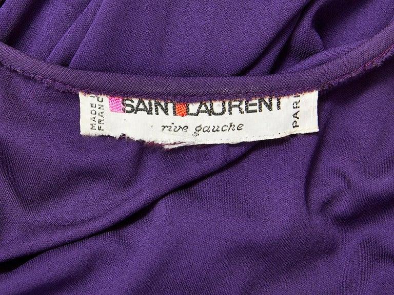 Women's Yves Saint Laurent Rive Gauche Jersey Gown For Sale