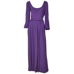 Yves Saint Laurent Rive Gauche Jersey Gown