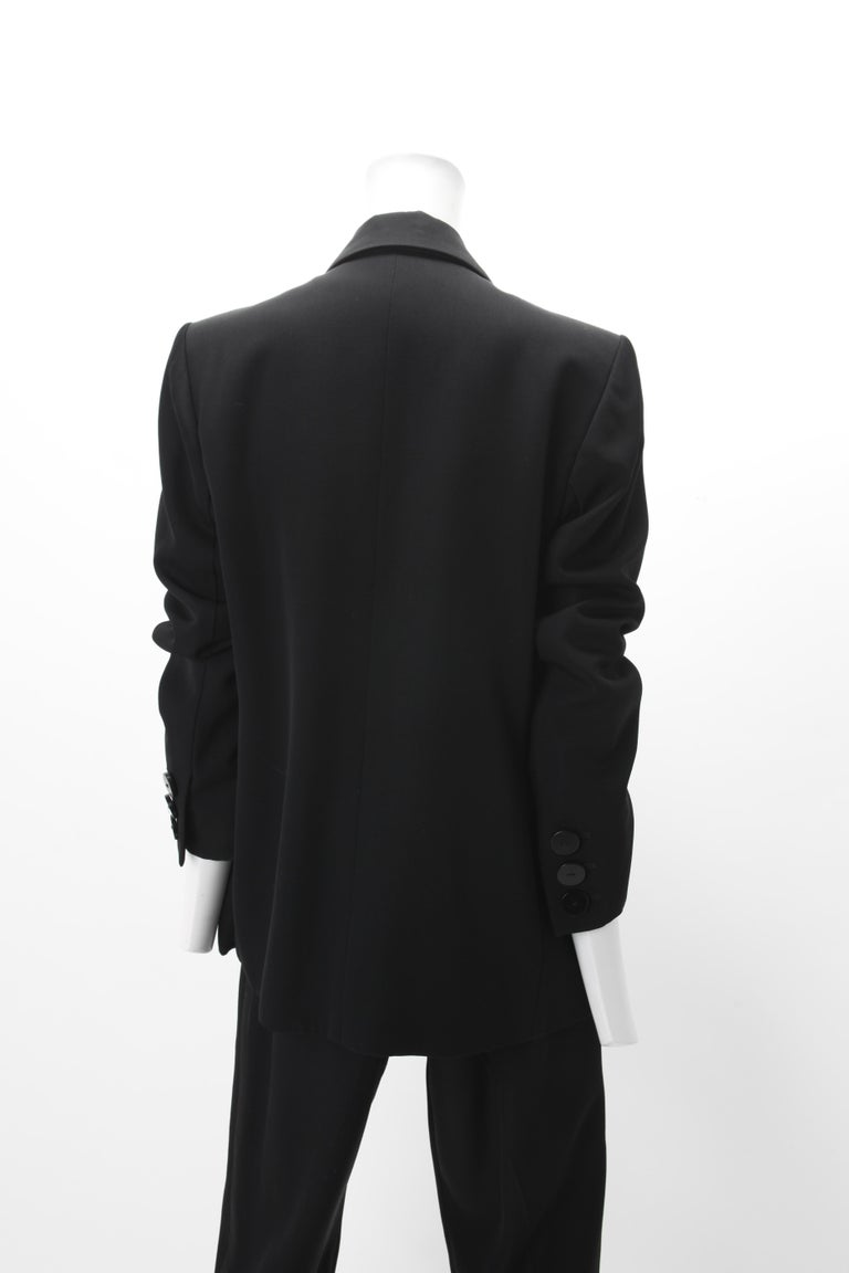 Yves Saint Laurent Rive Gauche Le Smoking 2pc Tuxedo EU 40 In Good Condition For Sale In New York, NY