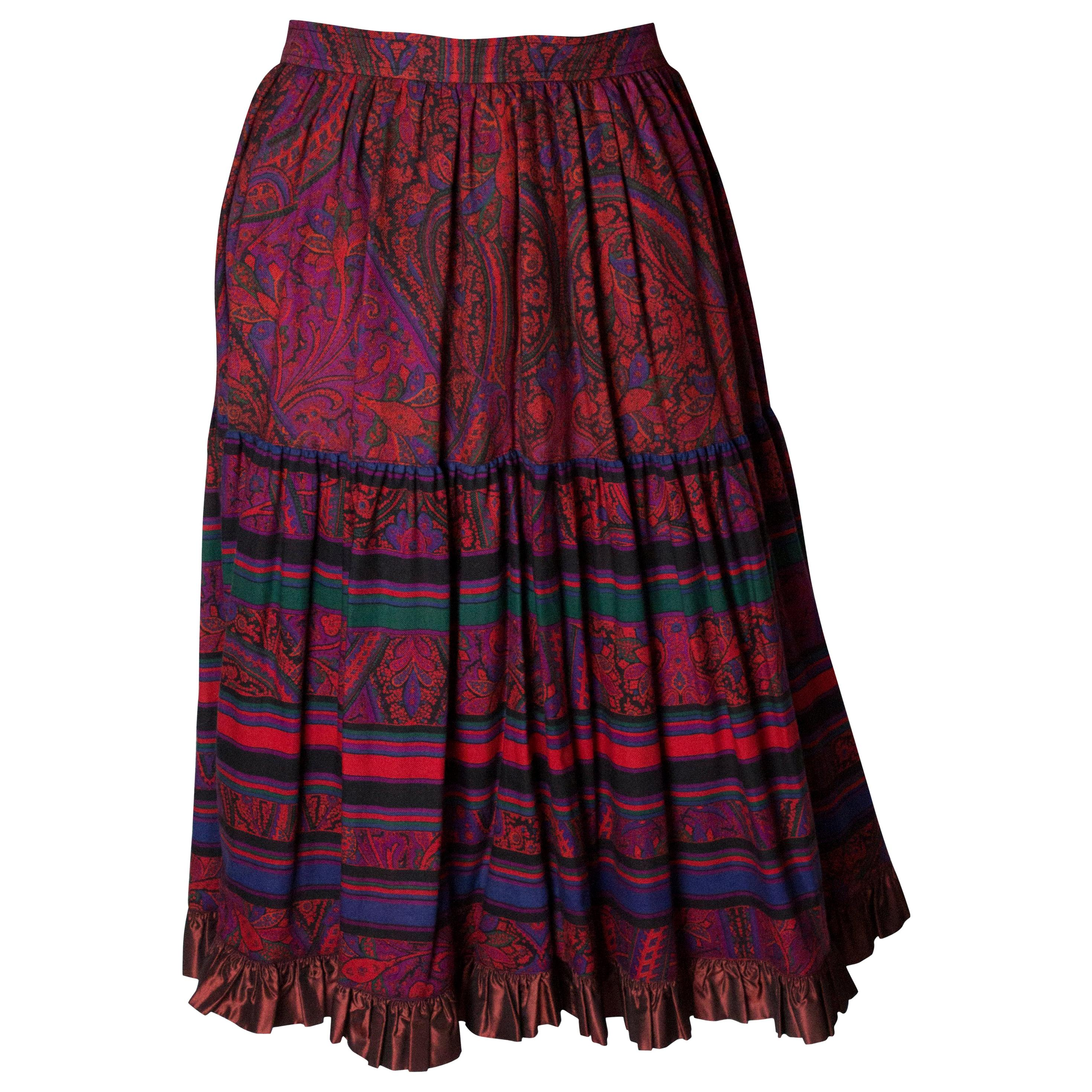 bca45d204 Vintage Yves Saint Laurent Skirts - 149 For Sale at 1stdibs