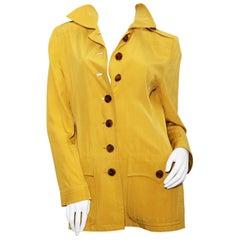 Yves Saint Laurent Rive Gauche pale chartreuse Safari  jacket