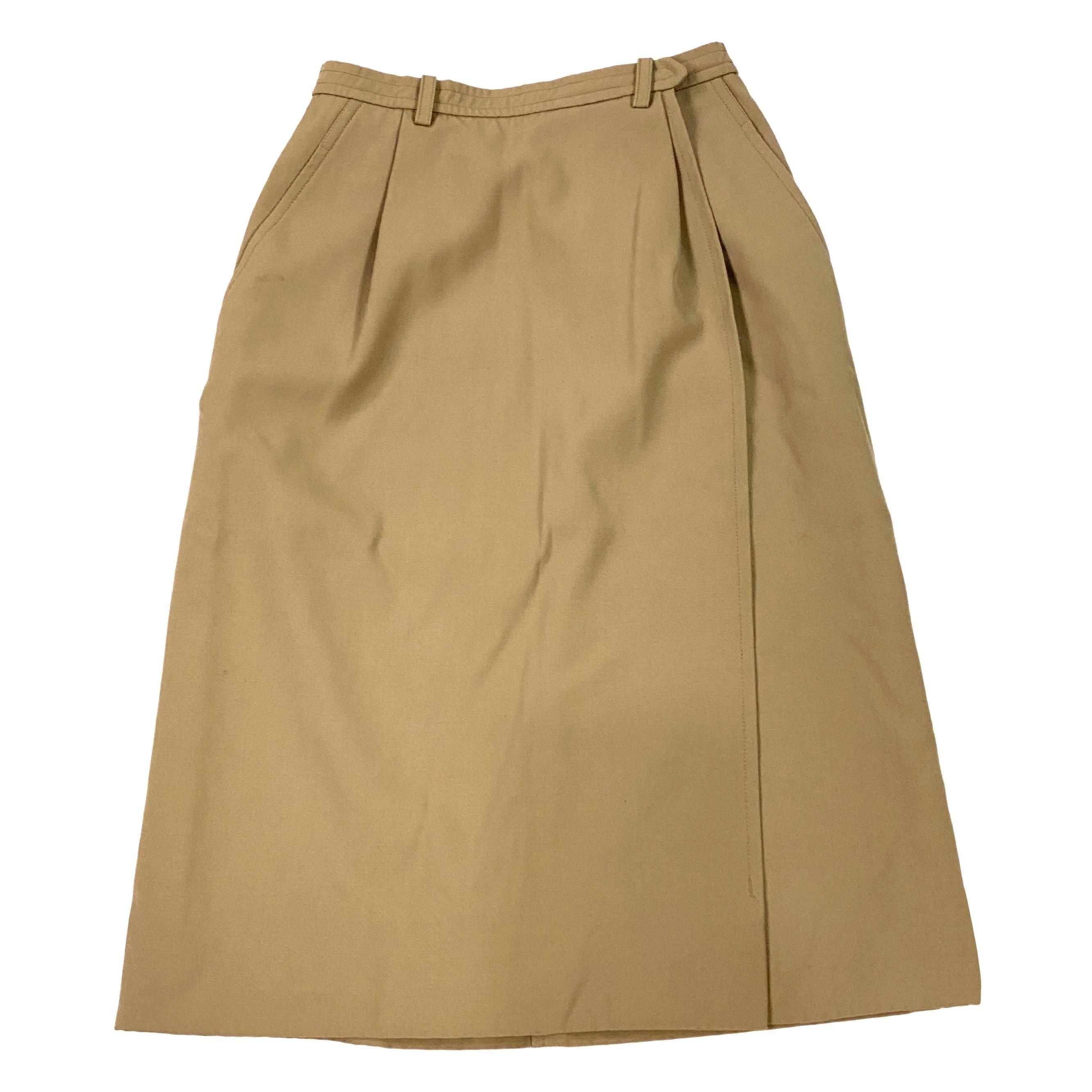 Yves Saint Laurent Rive Gauche Paris Brown Skirt, Size 36