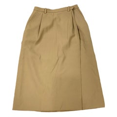 Yves Saint Laurent Rive Gauche Paris Brown Skirt, Size 36