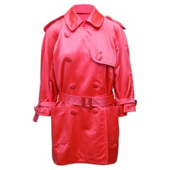 Yves Saint Laurent Rive Gauche Pink Short Trench Coat