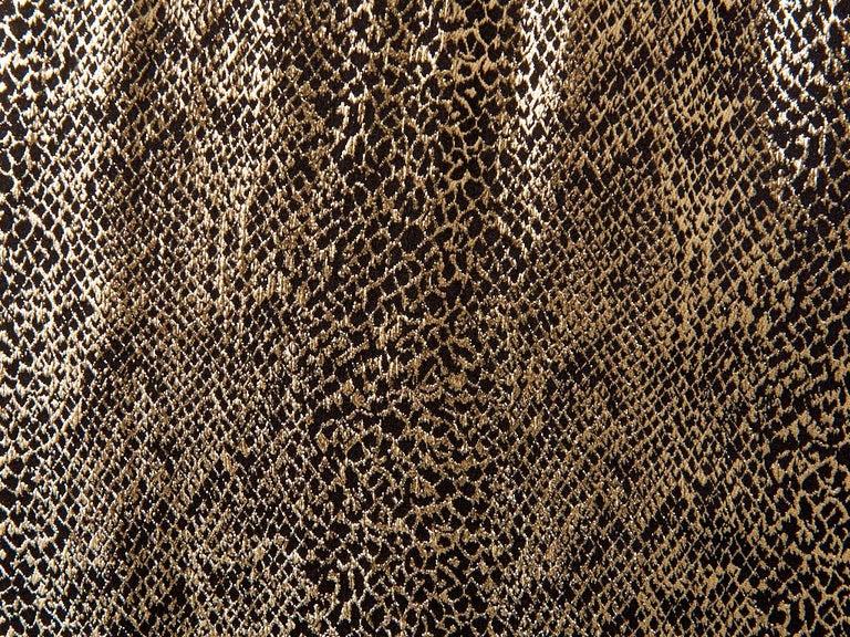 Women's Yves Saint Laurent Rive Gauche Reptile Pattern Gold Lame Evening Skirt For Sale