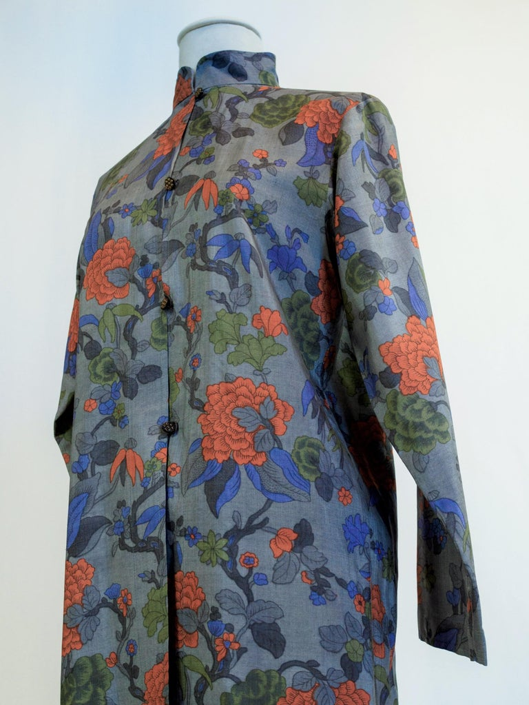 Yves Saint Laurent Rive Gauche set in printed silk number 55220 Fall Winter 1979 For Sale 7