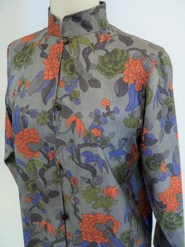 Yves Saint Laurent Rive Gauche set in printed silk number 55220 Fall Winter 1979 For Sale 9