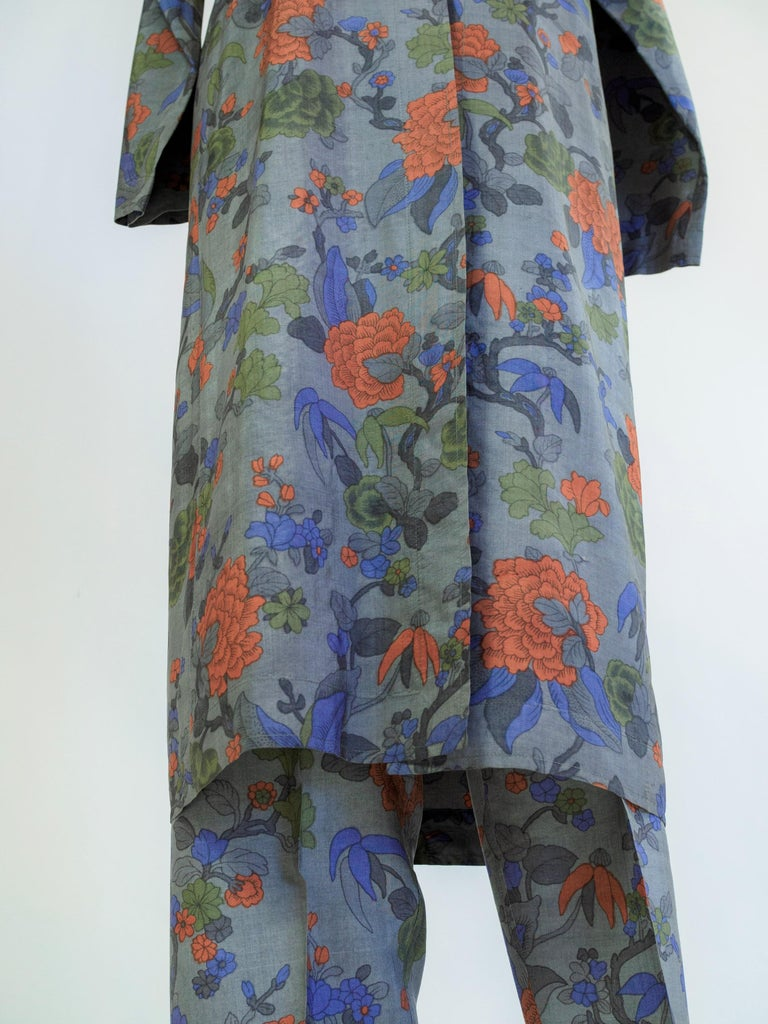 Yves Saint Laurent Rive Gauche set in printed silk number 55220 Fall Winter 1979 For Sale 10