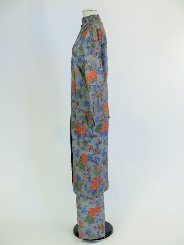 Yves Saint Laurent Rive Gauche set in printed silk number 55220 Fall Winter 1979 For Sale 13