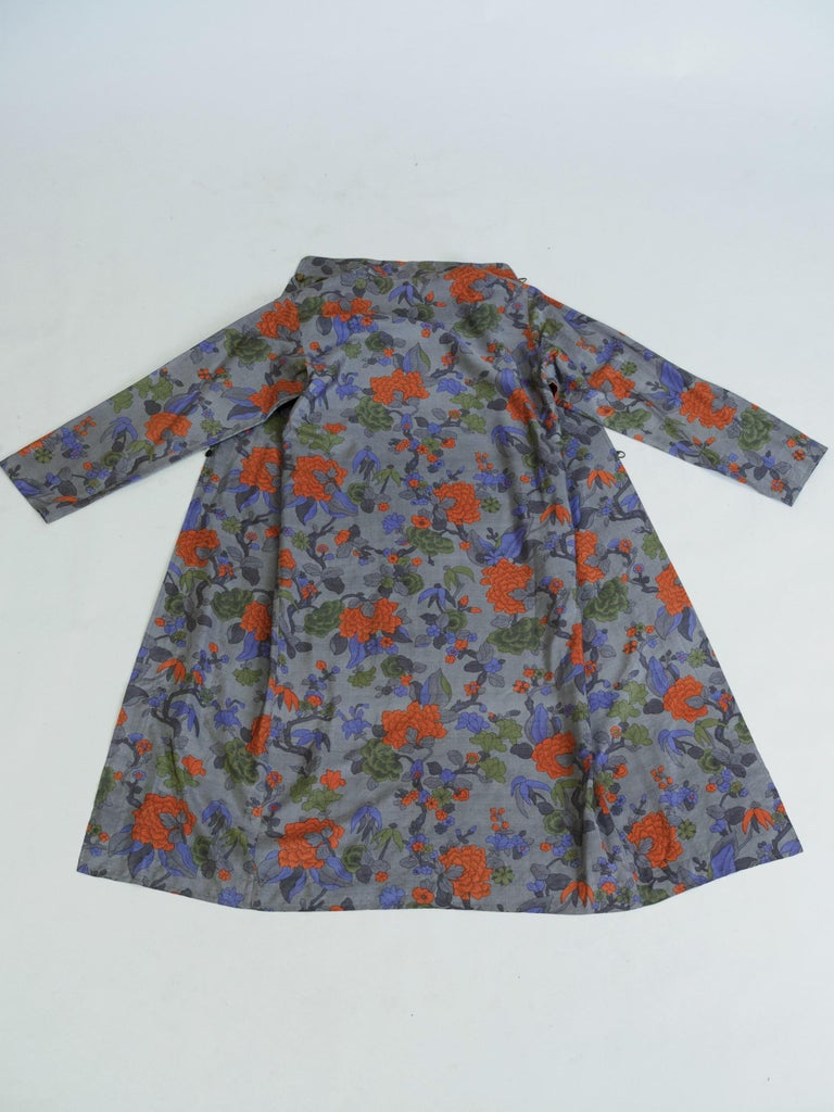 Women's Yves Saint Laurent Rive Gauche set in printed silk number 55220 Fall Winter 1979 For Sale