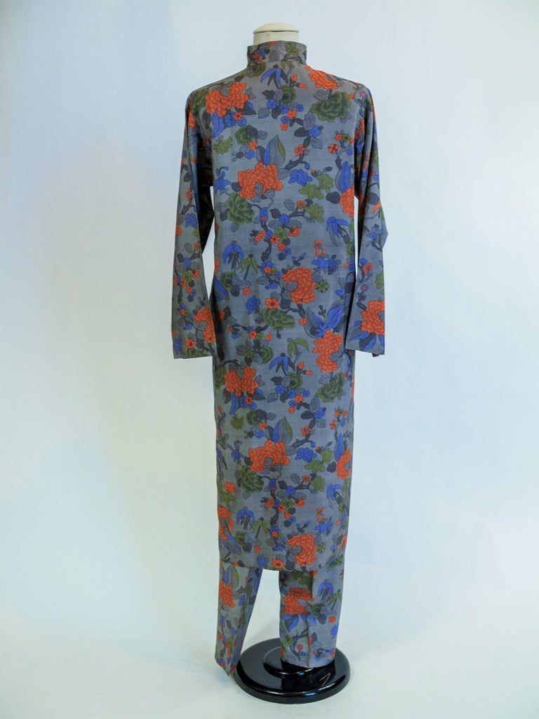 Yves Saint Laurent Rive Gauche set in printed silk number 55220 Fall Winter 1979 For Sale 3