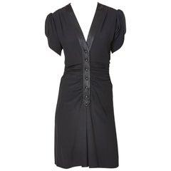 Yves Saint Laurent Rive Gauche Silk 40's Inspired Dress