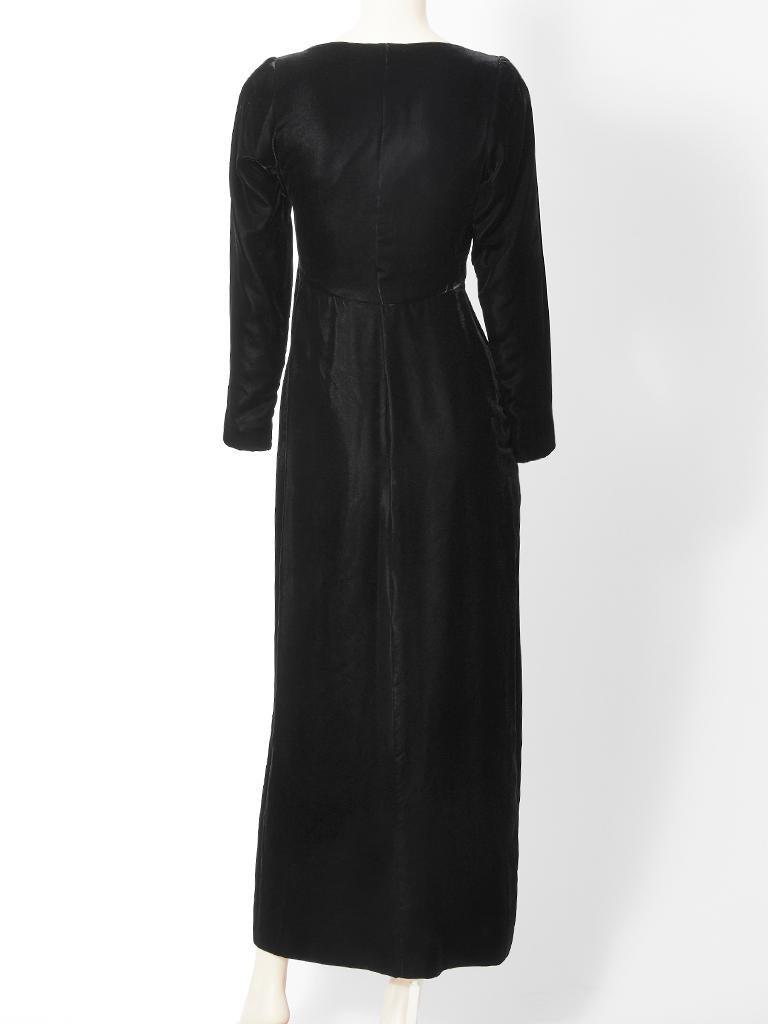 Women's Yves Saint Laurent RIve Gauche Velvet Evening Dress For Sale