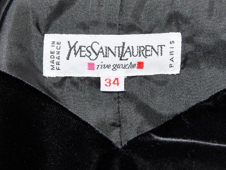 Yves Saint Laurent RIve Gauche Velvet Evening Dress For Sale 1