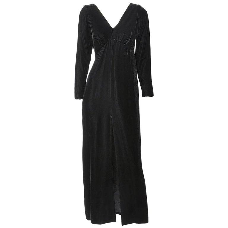 Yves Saint Laurent RIve Gauche Velvet Evening Dress For Sale