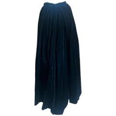 Yves Saint Laurent Rive Gauche Vintage 70's  Black Velvet Ball Skirt & Petticoat