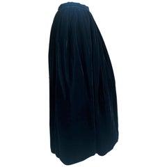 Yves Saint Laurent Rive Gauche Vintage 70's Voluminous Black Velvet Ball Skirt