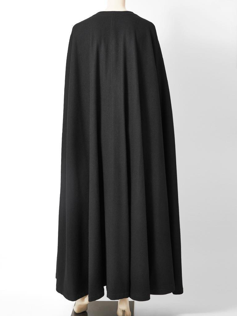Women's Yves Saint Laurent Rive Gauche Wool Maxi Cape For Sale