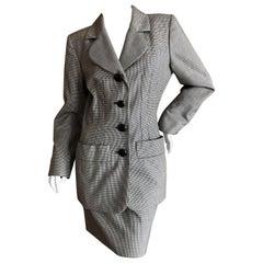 Yves Saint Laurent Rive Guache Vintage 1980's Houndstooth Suit
