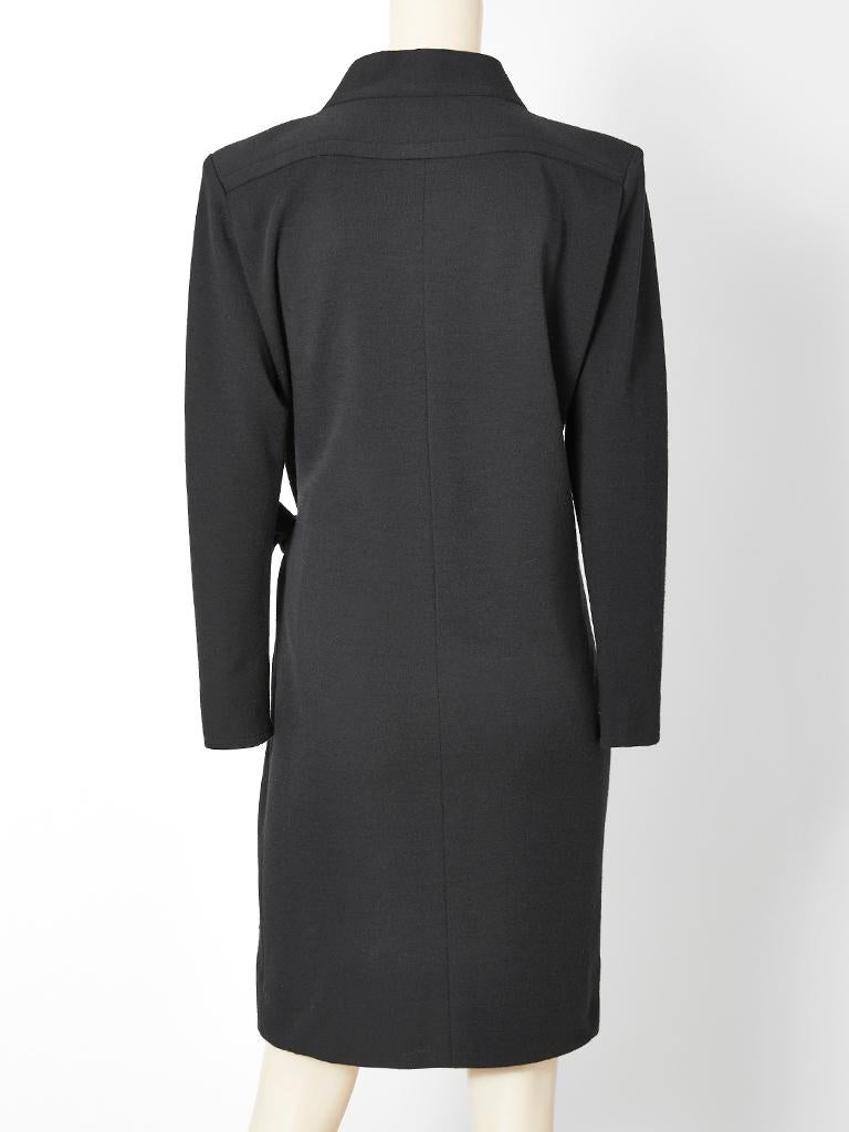 Yves Saint Laurent Rive Guache Wrap Dress In Good Condition For Sale In New York, NY