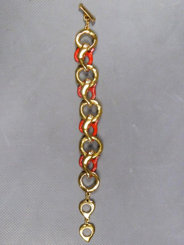 Yves Saint Laurent / Robert Goossens Coral Bracelet Circa 1980 For Sale 1