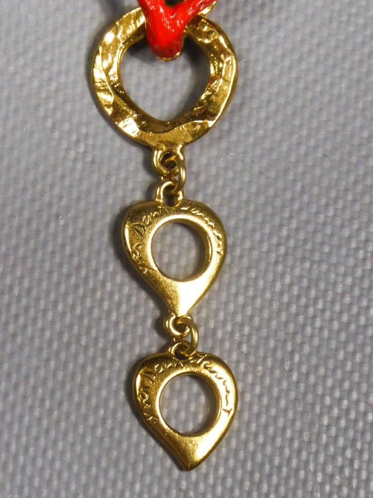 Yves Saint Laurent / Robert Goossens Coral Bracelet Circa 1980 For Sale 4