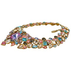 YVES SAINT LAURENT Robert Goossens Multi Jeweled Runway Necklace