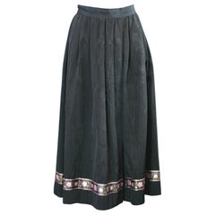 Yves Saint Laurent Russian Collection Moire Skirt