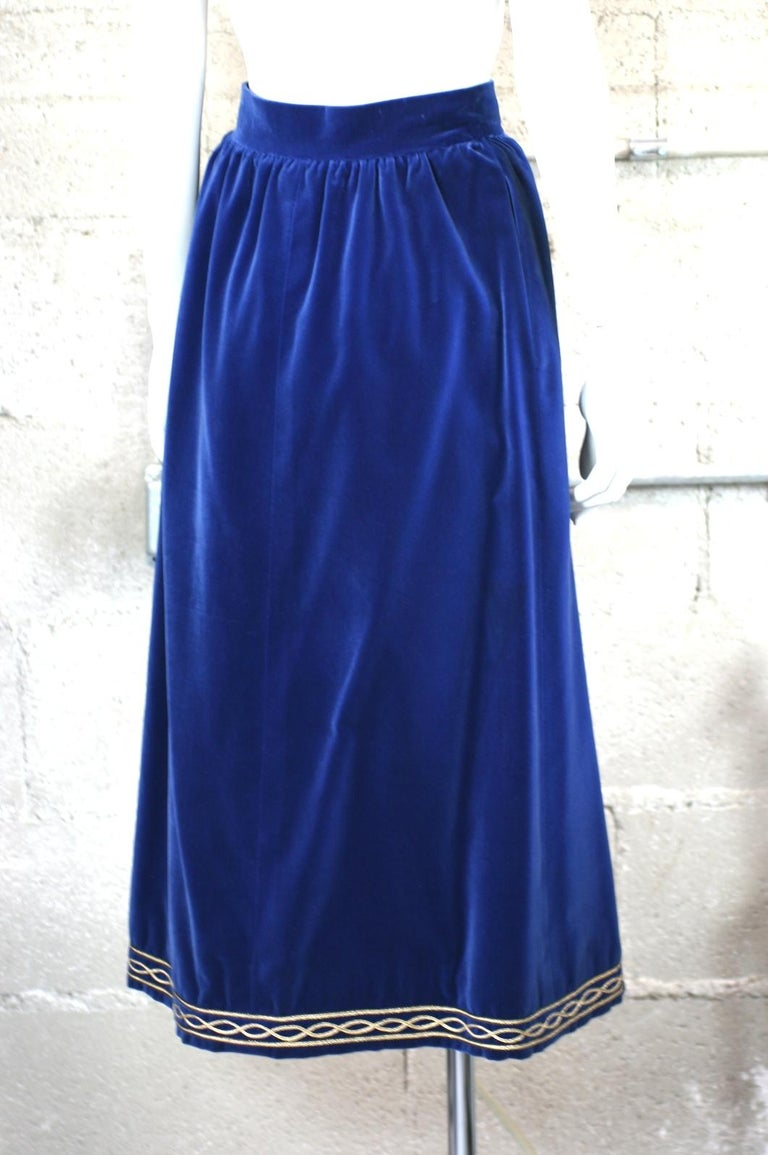 Yves Saint Laurent Russian Collection Skirt In Excellent Condition For Sale In Riverdale, NY
