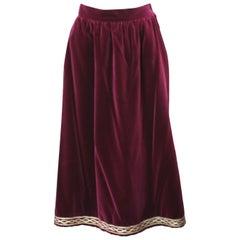 Yves Saint Laurent Russian Collection Velvet Skirt