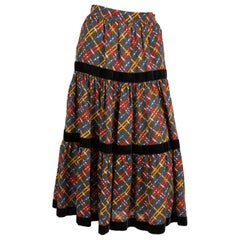 Yves Saint Laurent Russian Collection Wool Skirt