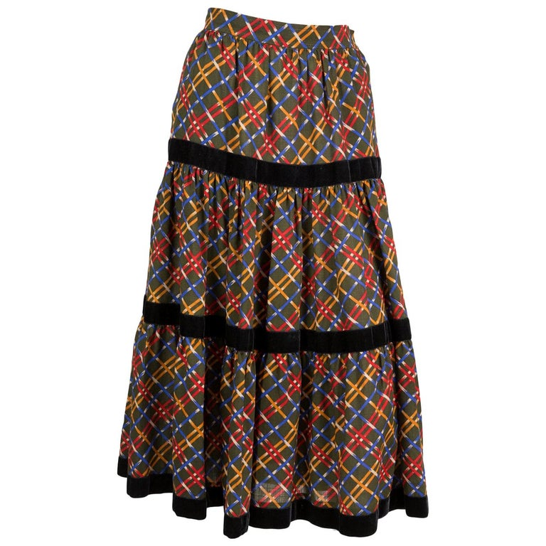 Yves Saint Laurent Russian Collection Wool Skirt For Sale