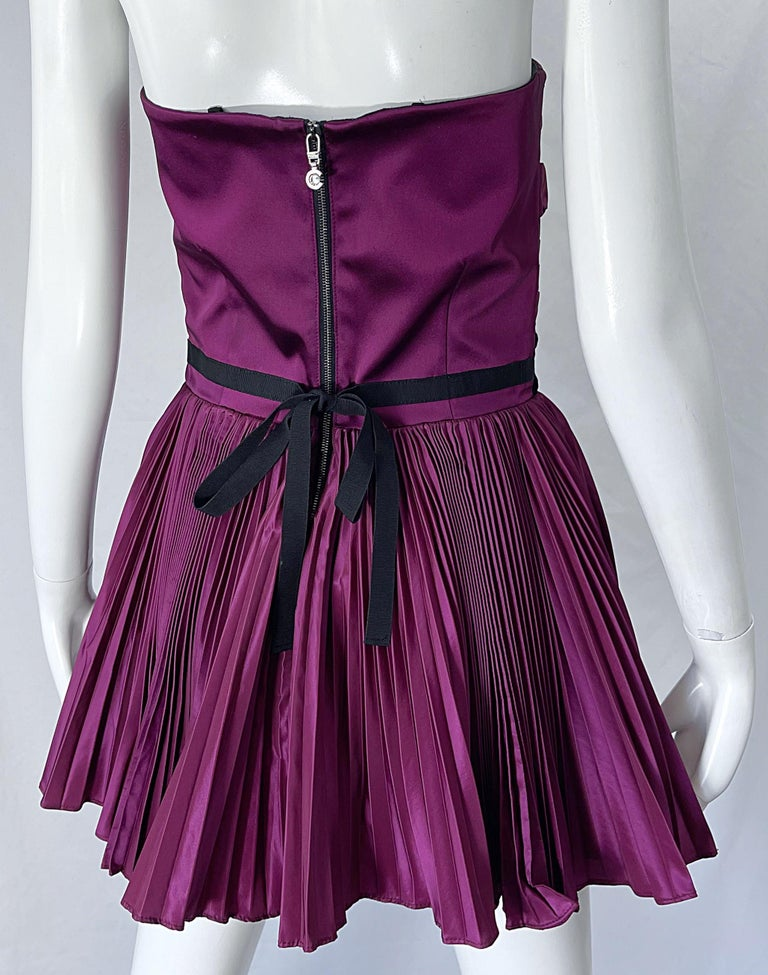 Yves Saint Laurent S/S 2012 Stefano Pilati Purple Silk Taffeta Mini Dress or Top For Sale 9