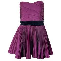 Yves Saint Laurent S/S 2012 Stefano Pilati Purple Silk Taffeta Mini Dress or Top