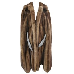 Yves saint laurent sable fur cape/coat size