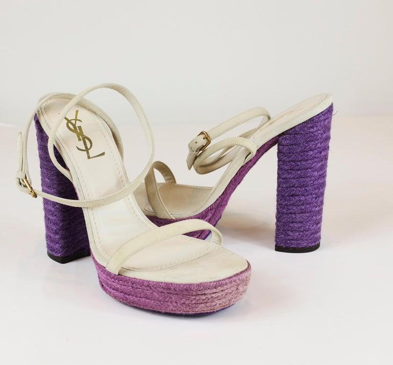 Beige Yves Saint Laurent Sandals For Sale