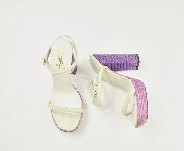 Yves Saint Laurent Sandals In Good Condition For Sale In Bridgehampton, NY