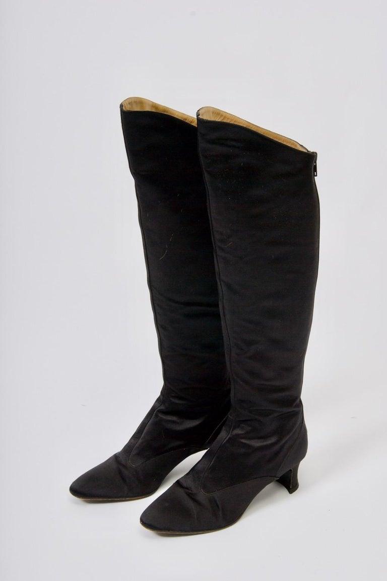 Yves Saint Laurent Satin Boots For Sale 5