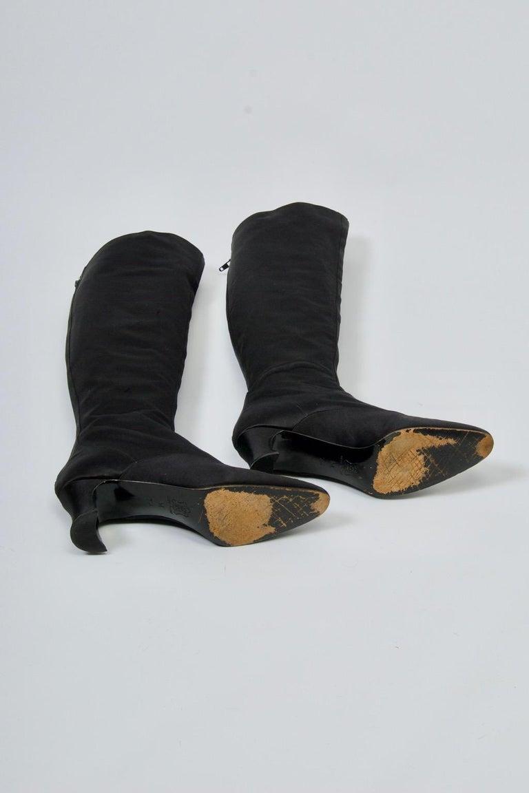 Women's Yves Saint Laurent Satin Boots For Sale