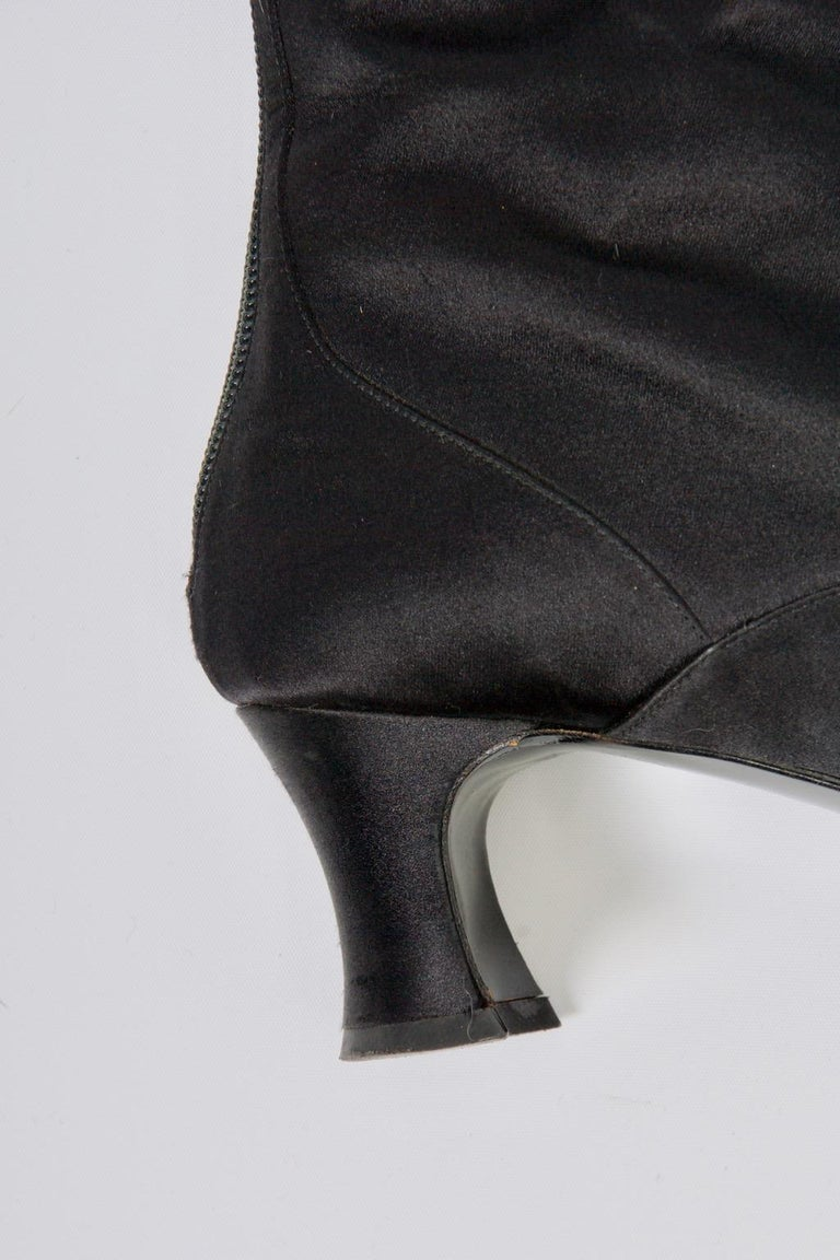 Yves Saint Laurent Satin Boots For Sale 1