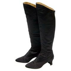 Yves Saint Laurent Satin Boots