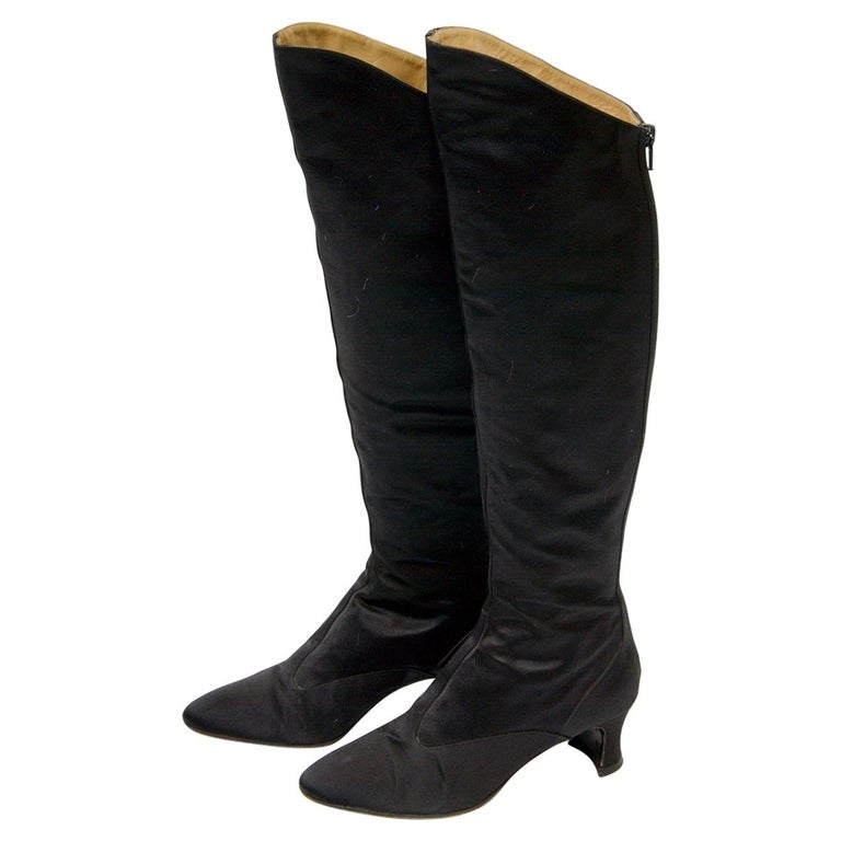 Yves Saint Laurent Satin Boots For Sale