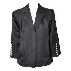 Yves Saint Laurent Satin Oversize Evening Jacket