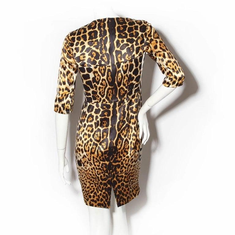 Beige Yves Saint Laurent Sheath Dress For Sale