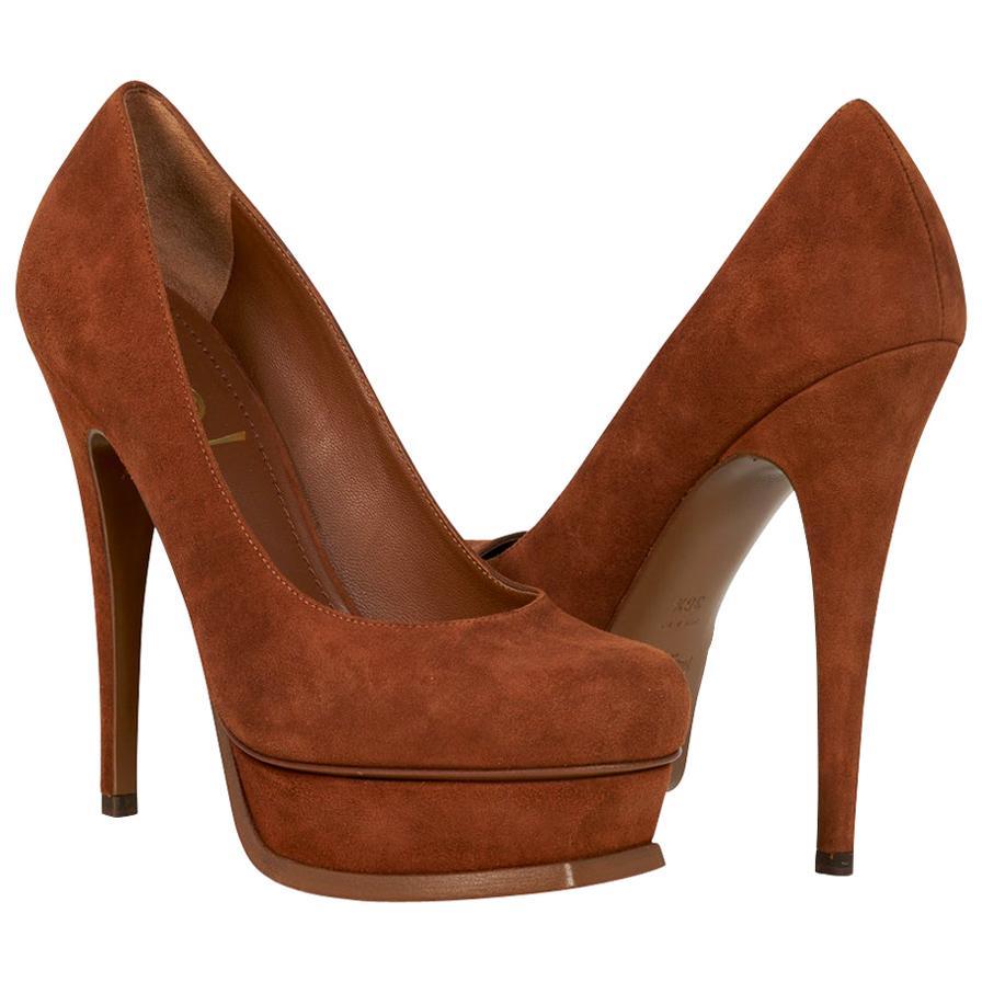 Yves Saint Laurent Shoe Suede Platform Pump 36.5 / 6.5