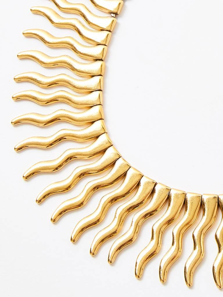 Yves Saint Laurent Signed and Numbered Sunburst Necklace In Excellent Condition For Sale In New York, NY