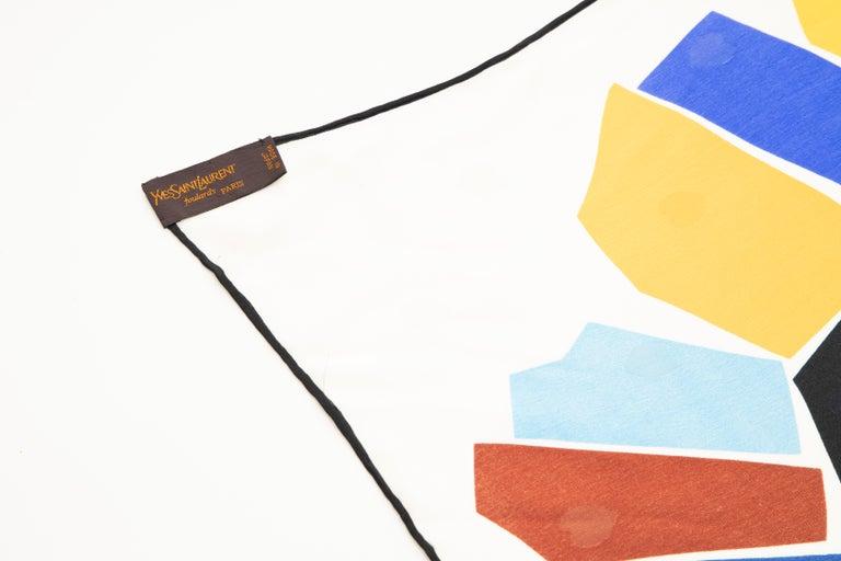 Yves Saint Laurent Silk Jacquard Love Print Scarf, Circa: 1985 For Sale 3