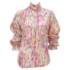 Yves Saint Laurent Silk 'Watercolor' Blouse